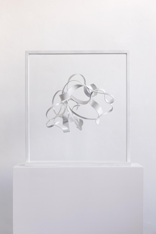 Nikola Dimitrov, NachtStück II 2014, Pigmente, Bindemittel auf Leinwand, 80 ×80 cm