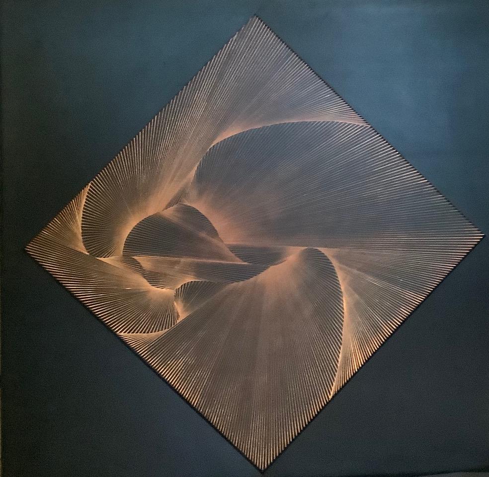 Nikola Dimitrov, Synapsen 2011, Pigmente, Bindemittel auf Leinwand, 70 × 110 cm